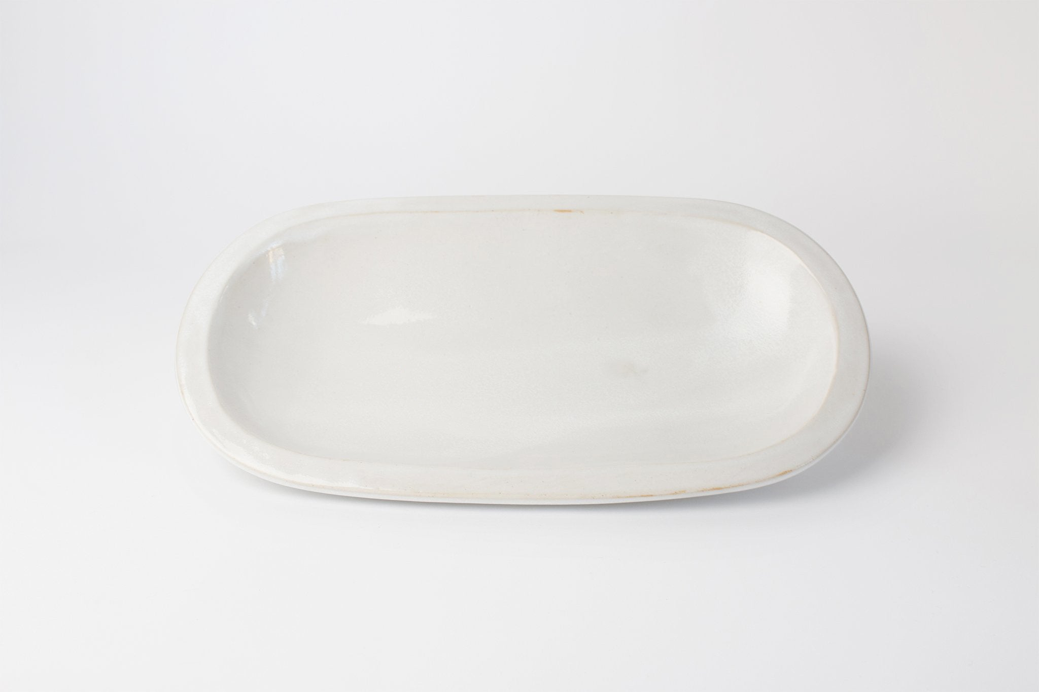 "Clam Lab 14"" Oval Server White"