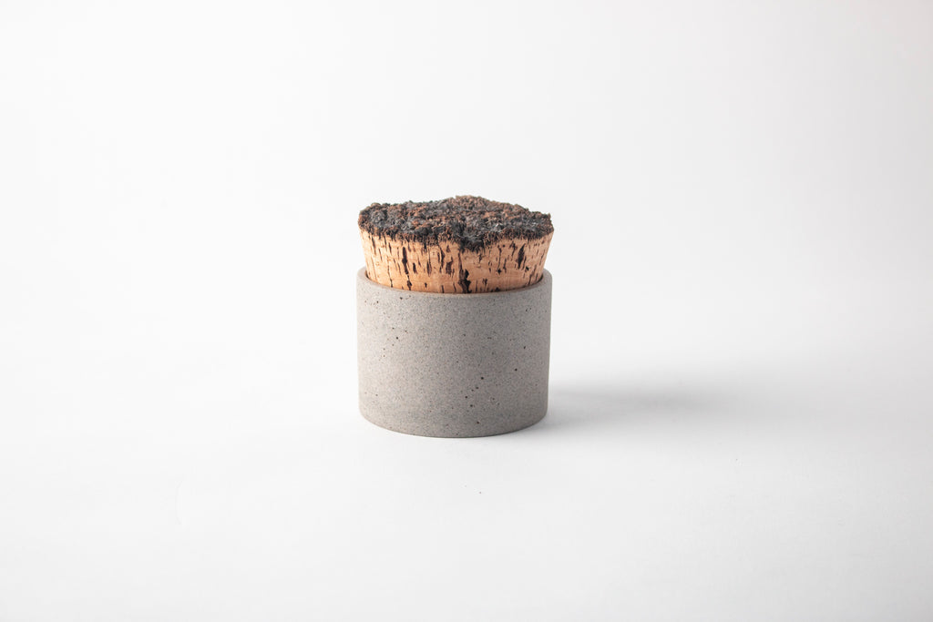 "3.5"" x 2.5"" Greystone/Snow White Canister"