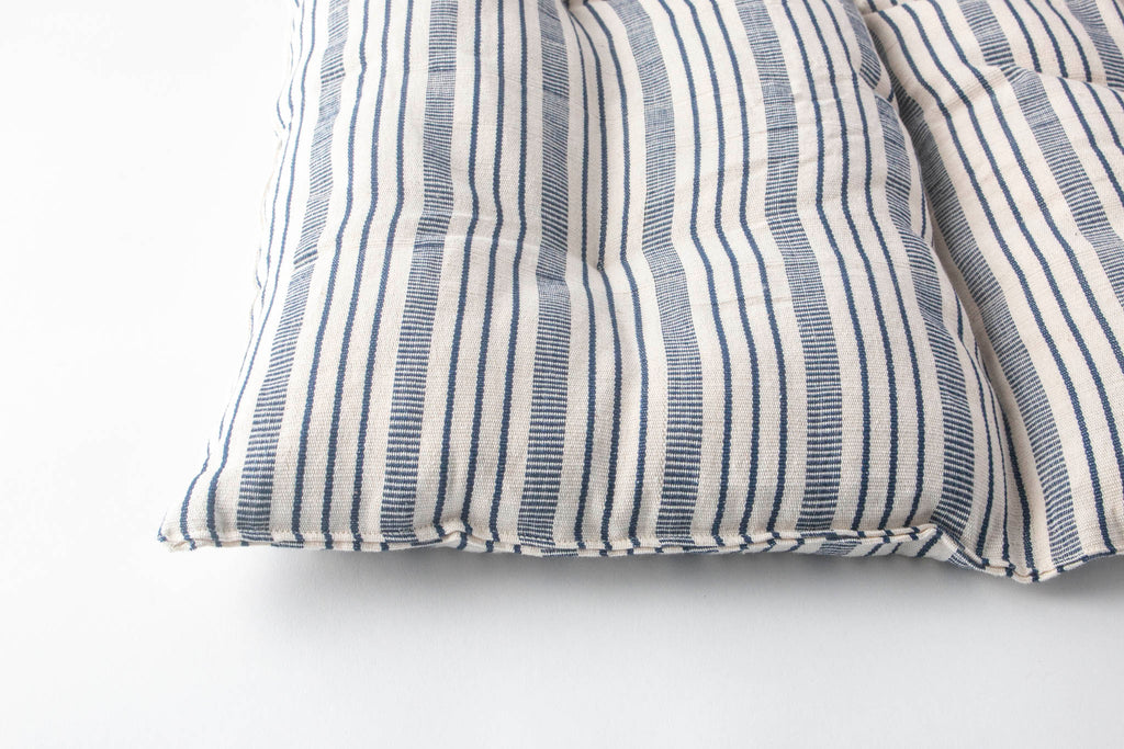 Navy/Off White Square Floor Pillow