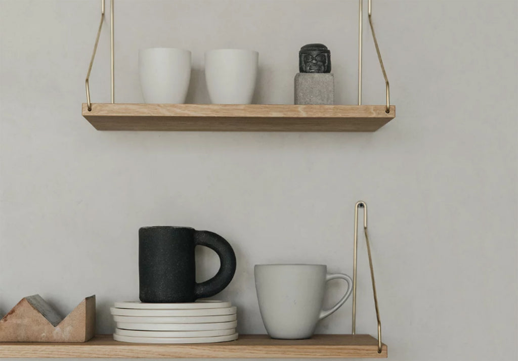 20 x 40 Shelf, Brass Brackets