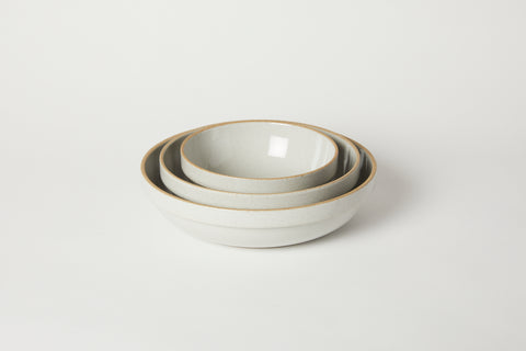 Gloss Grey Medium Rounded Bowl