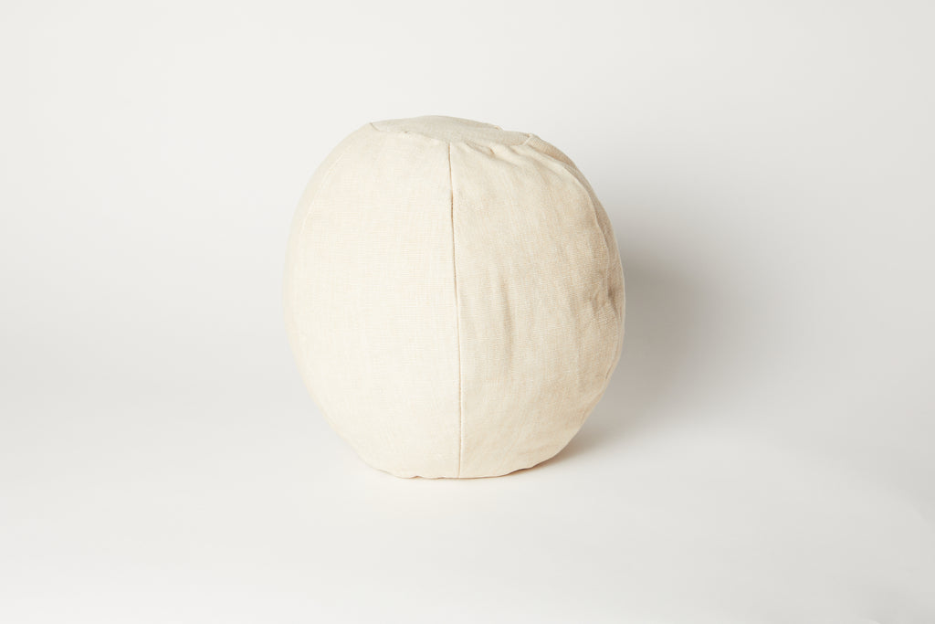 Pale Seagrass Handloom Globe Cushion