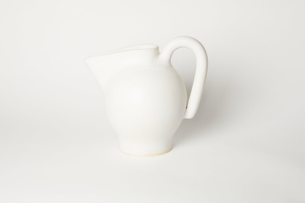 Satin White Pitcher 1