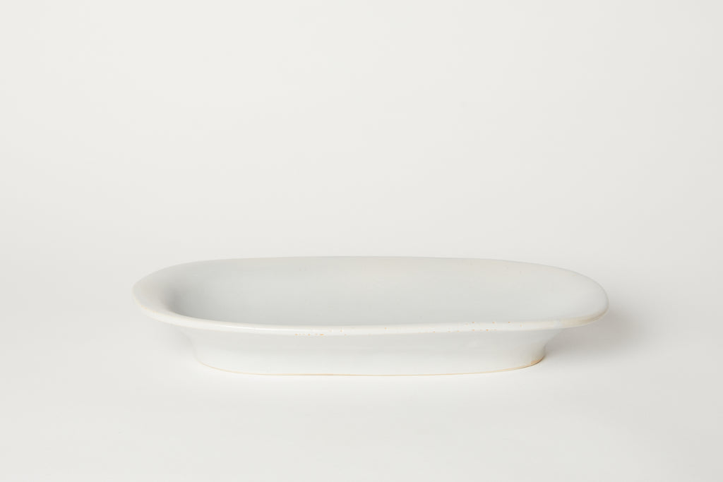 Oval Serving Bowl Pale Blue 19