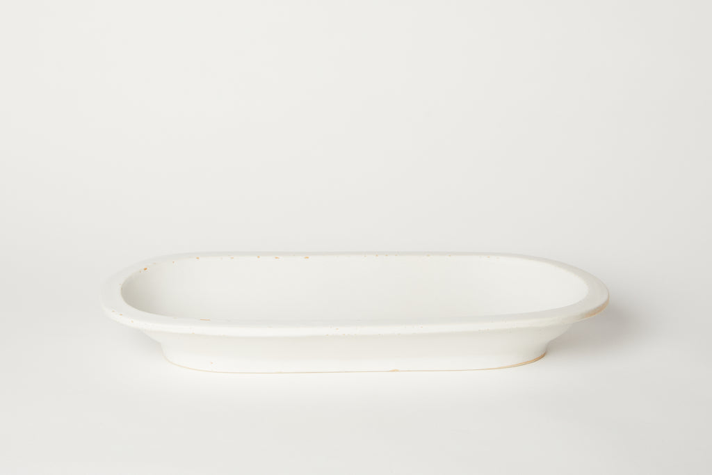 Oval Rim Bowl White 20