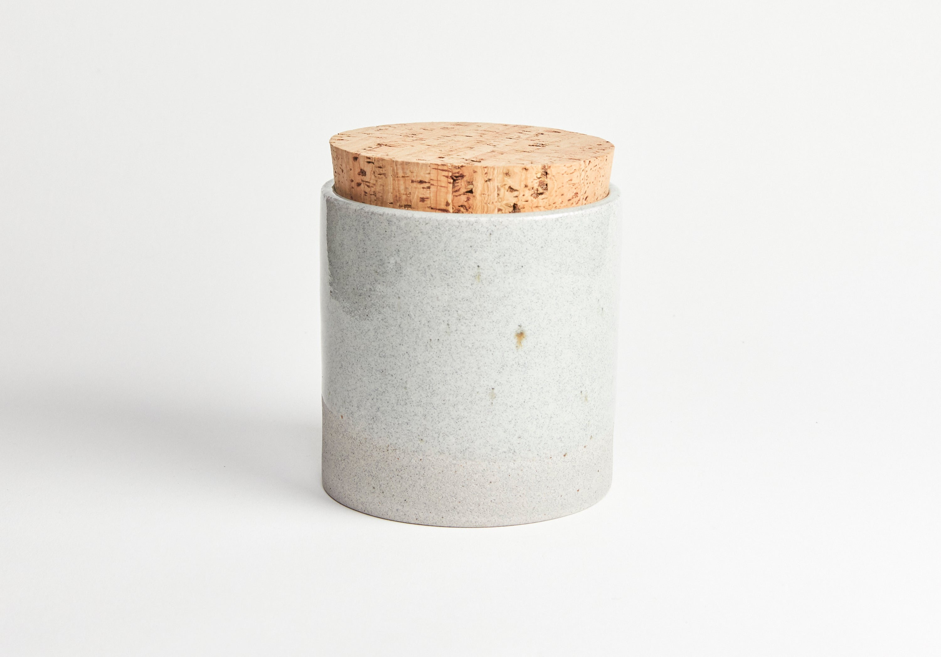 Humble Ceramics Canister 4.5 x 4.5 Greystone/Clear Sky