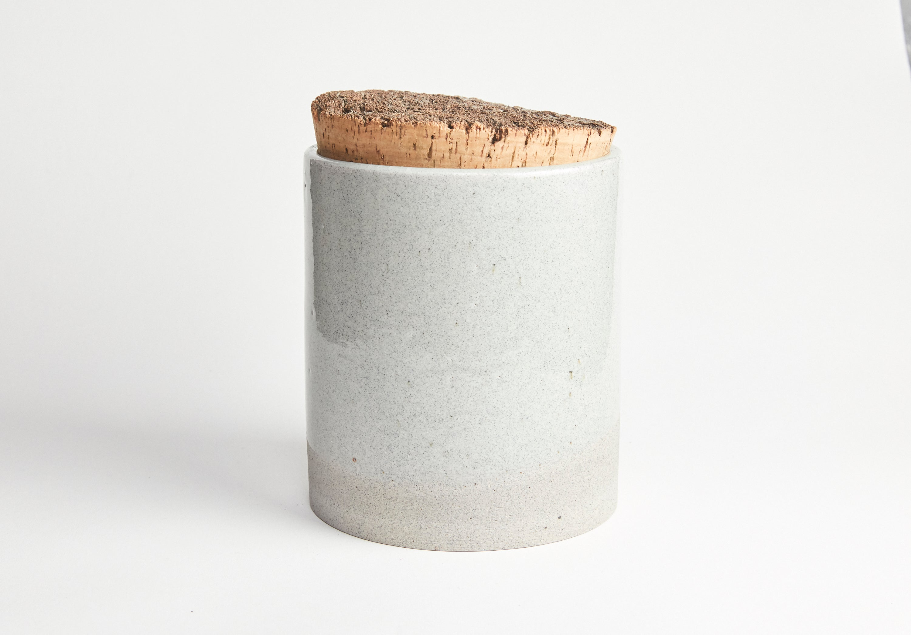Humble Ceramics Canister 6 x 7 Greystone/Clear Sky