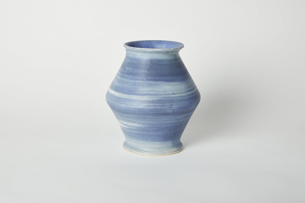 Blue Brushstroke Vase