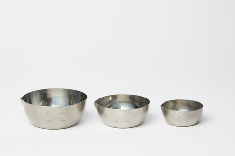Stainless Steel Portioning Bowls