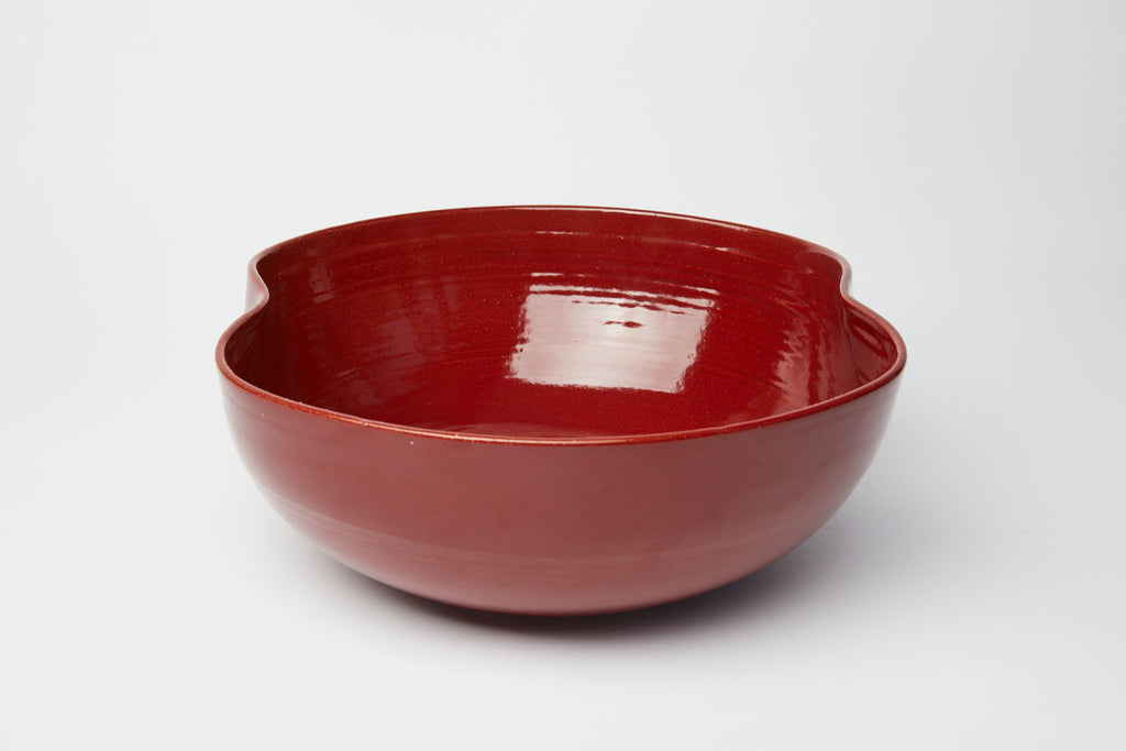 Natalie Weinberger Ribbed Bowl Burgundy