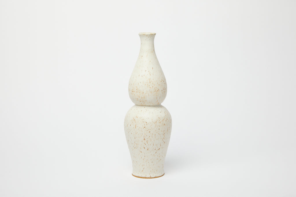 Object & Totem Tiered Tulip Vase Speckled White