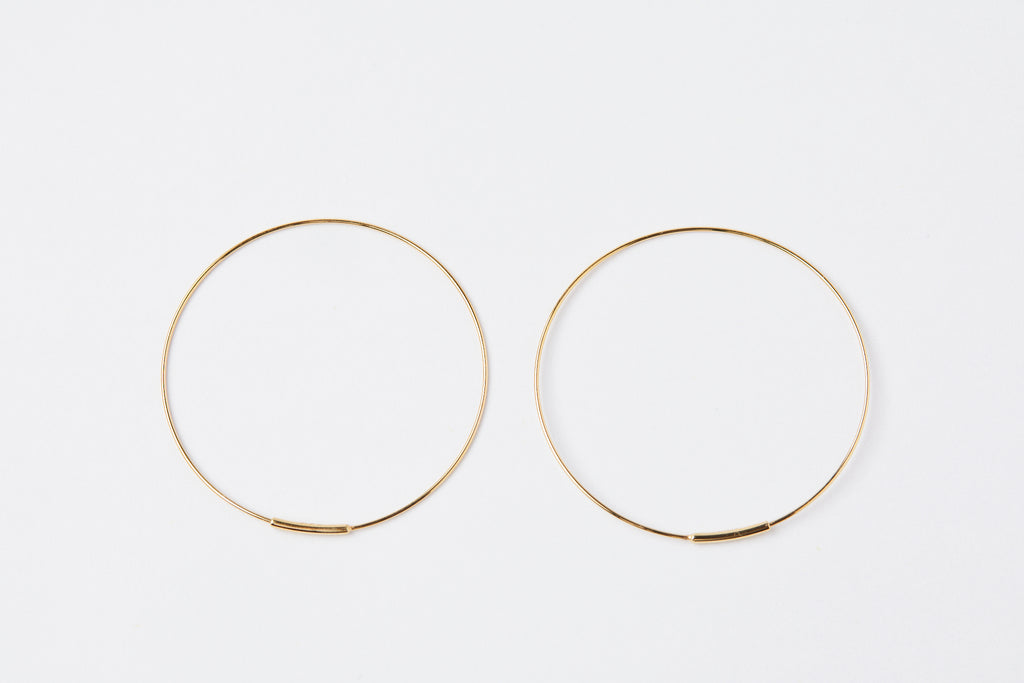 Kathleen Whitaker Medium Hoop Earrings