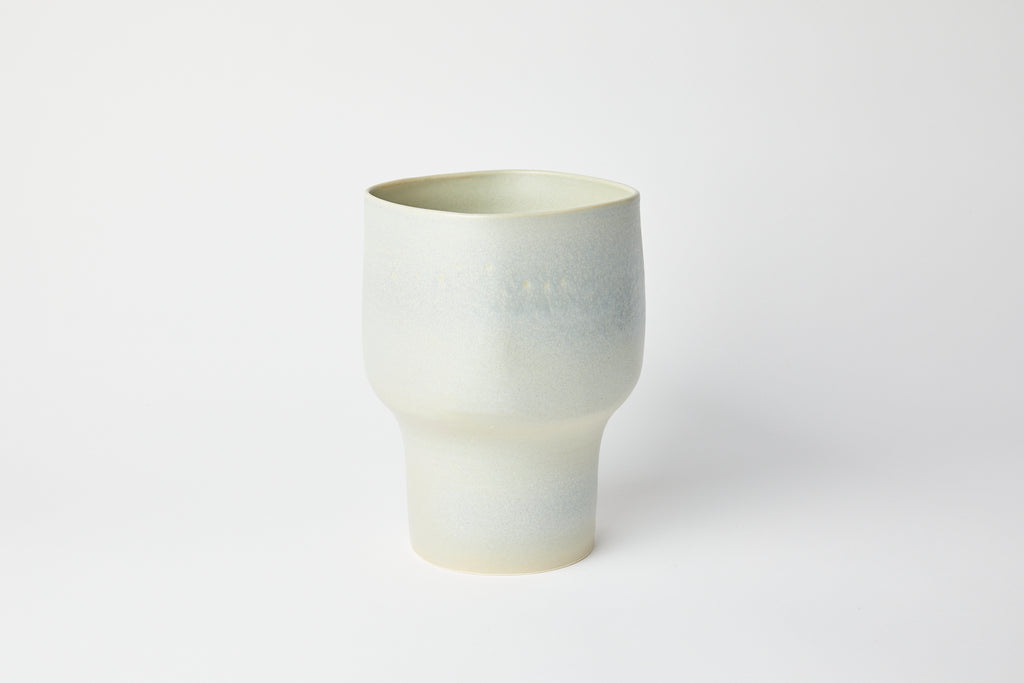 Natalie Weinberger Square Mouth Vase Celadon D