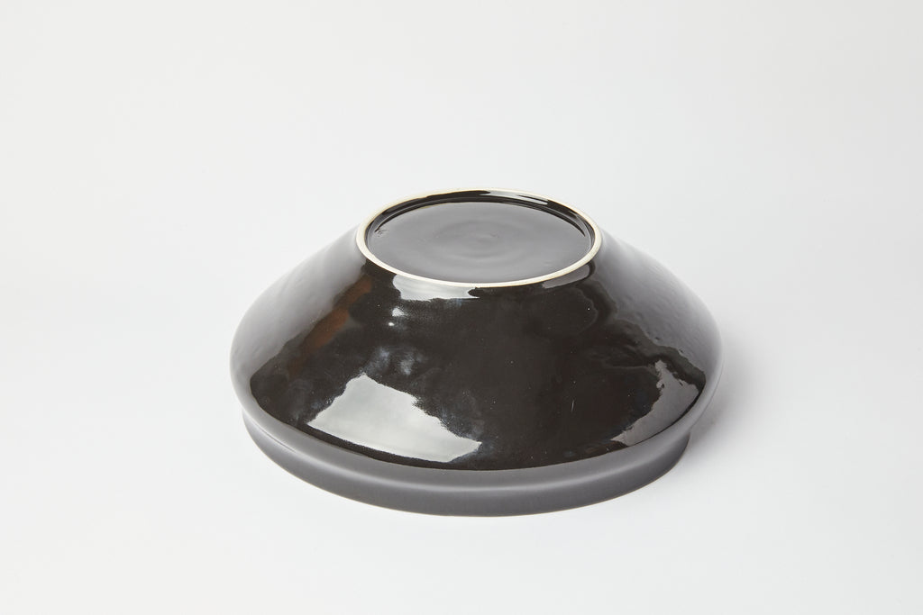 Natalie Weinberger Ribbed Bowl Black