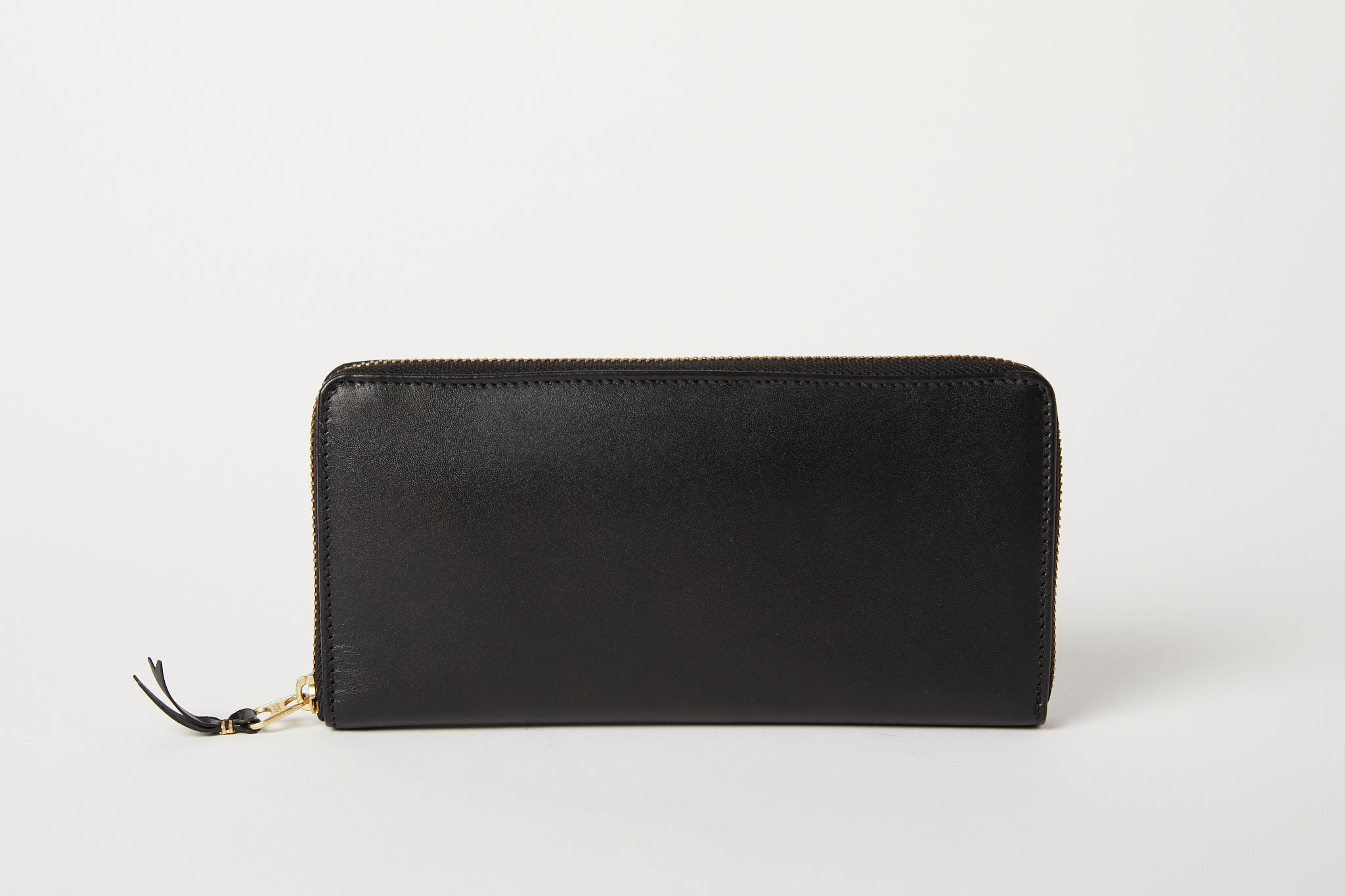 Large black zip around classic wallet