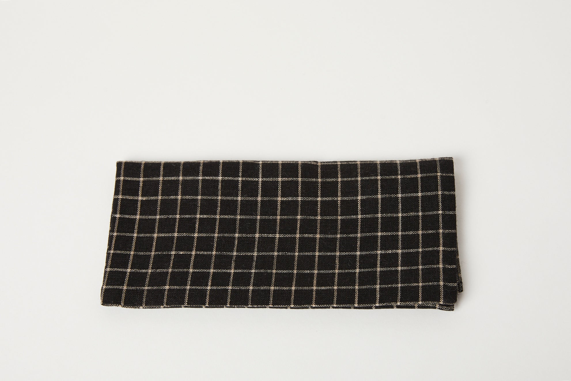 Black and Beige Plaid Napkin