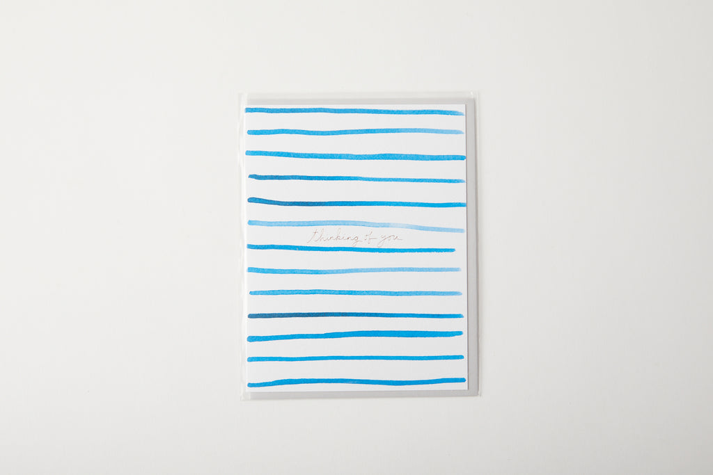 Thinking of you stripe card