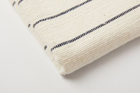 TPE 100% Cotton Natural w Navy Stripe Tea Towel