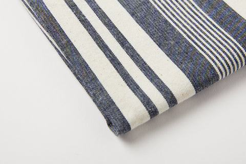 TPE Denim & Tan Stripe Tea Towel