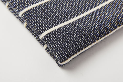 TPE 100% Cotton Navy w Natural Stripe Tea Towel