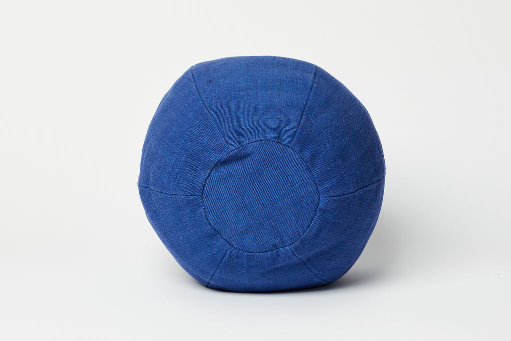 Colbalt Blue Cotton Globe Pillow