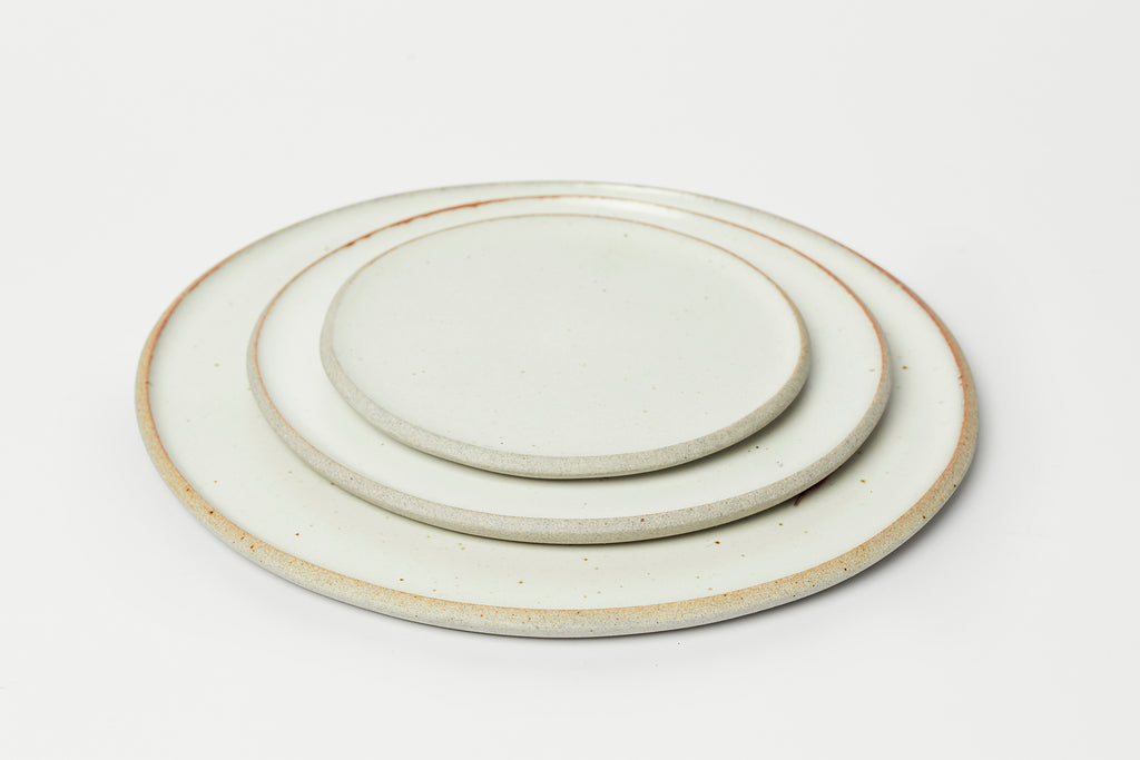Humble Ceramics Stillness Plate 8.5 Greystone/Snow White