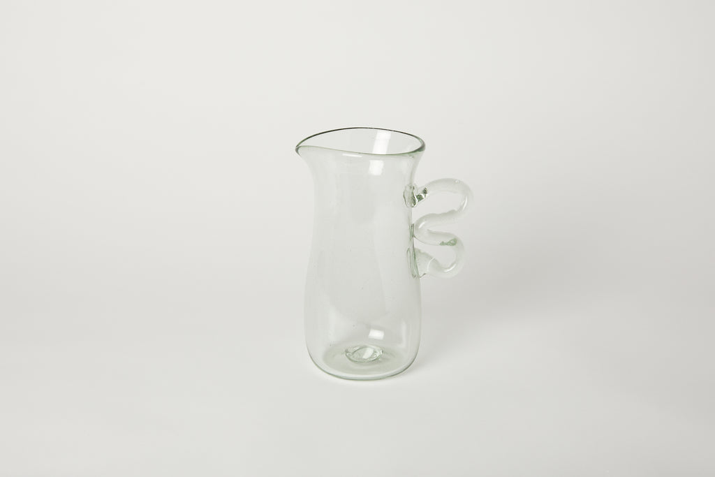 Glass Pitcher with Double Handle