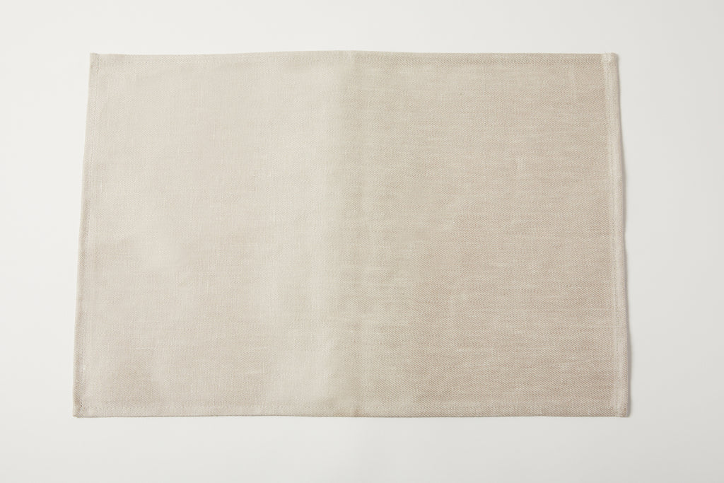Linen Placemat Denim White
