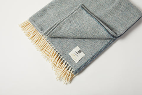 Blue Supersoft Throw