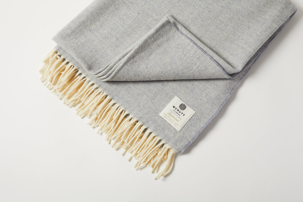 Smoke Herringbone Supersoft Throw