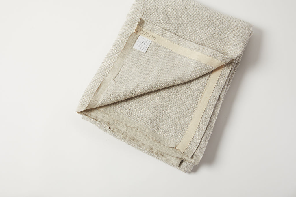 Washed Waffle Throw Natural