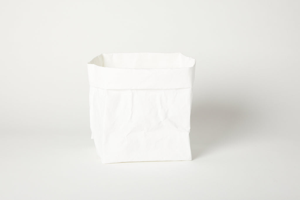 Large White Paper Basket