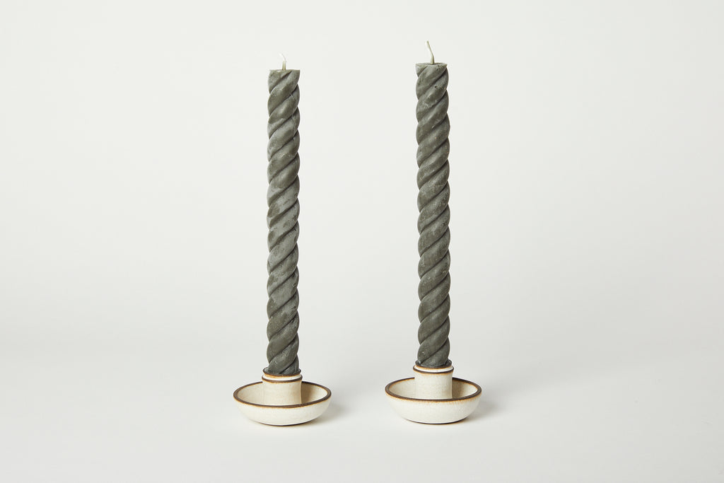 Rope Tapers Candles Antique 10""