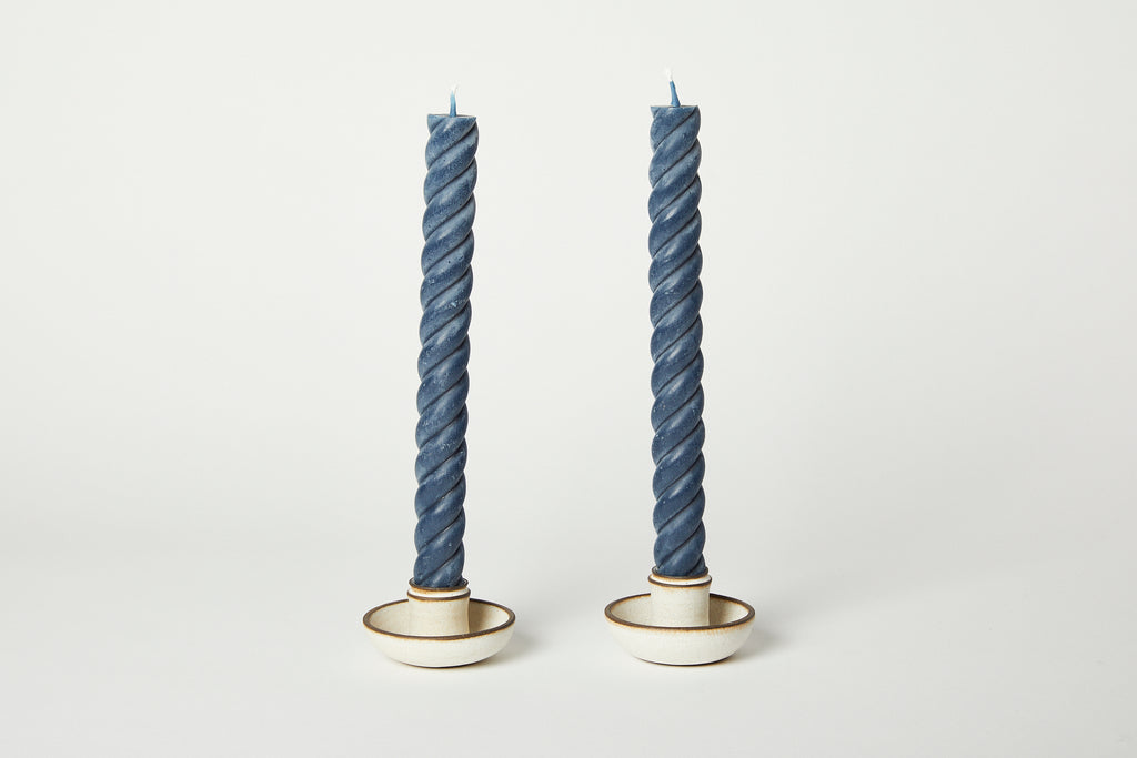 Ropes Taper Candles Blue Slate 10""
