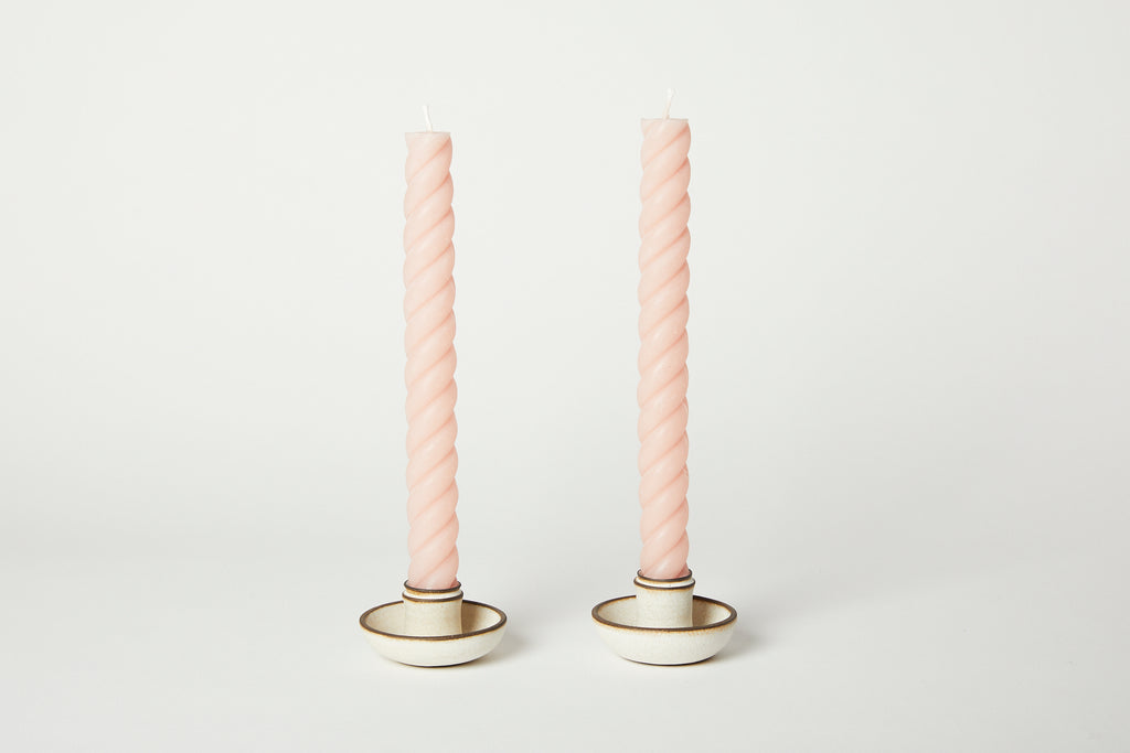 Ropes Taper Candles Blush 10""