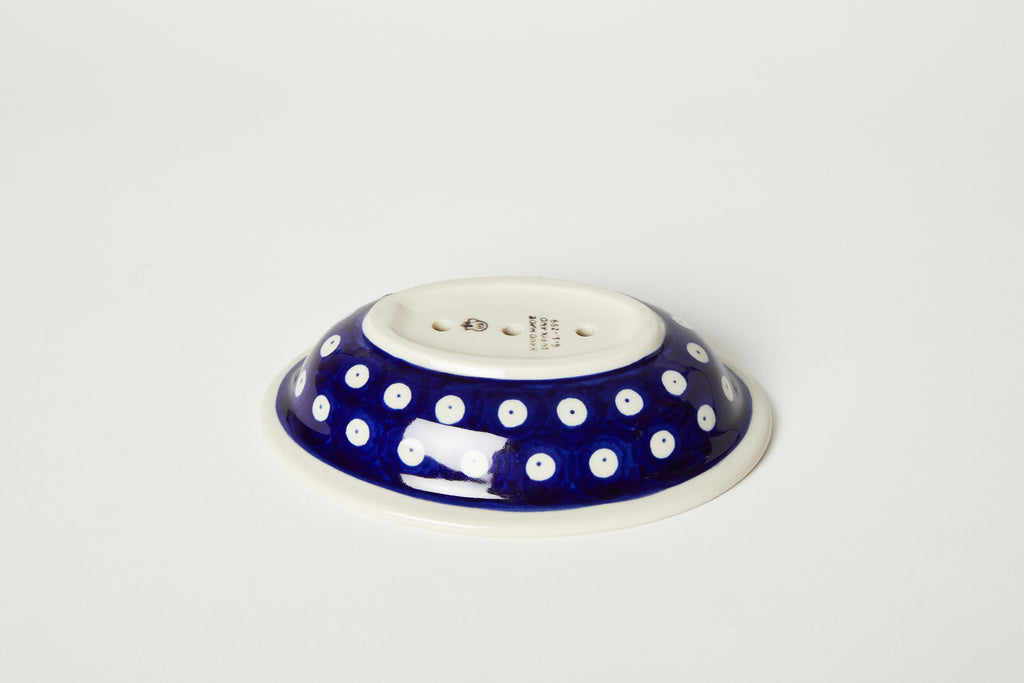 Intricate Blue Soap Dish