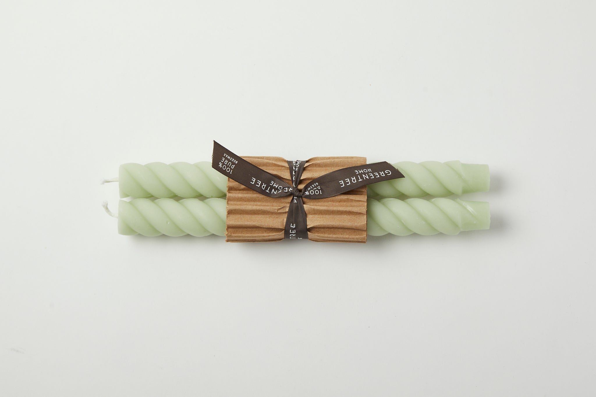 Rope Taper Candles Celadon 10""