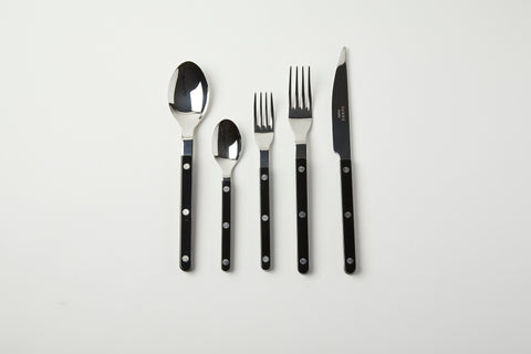Black 5 Pc Bistro Flatware