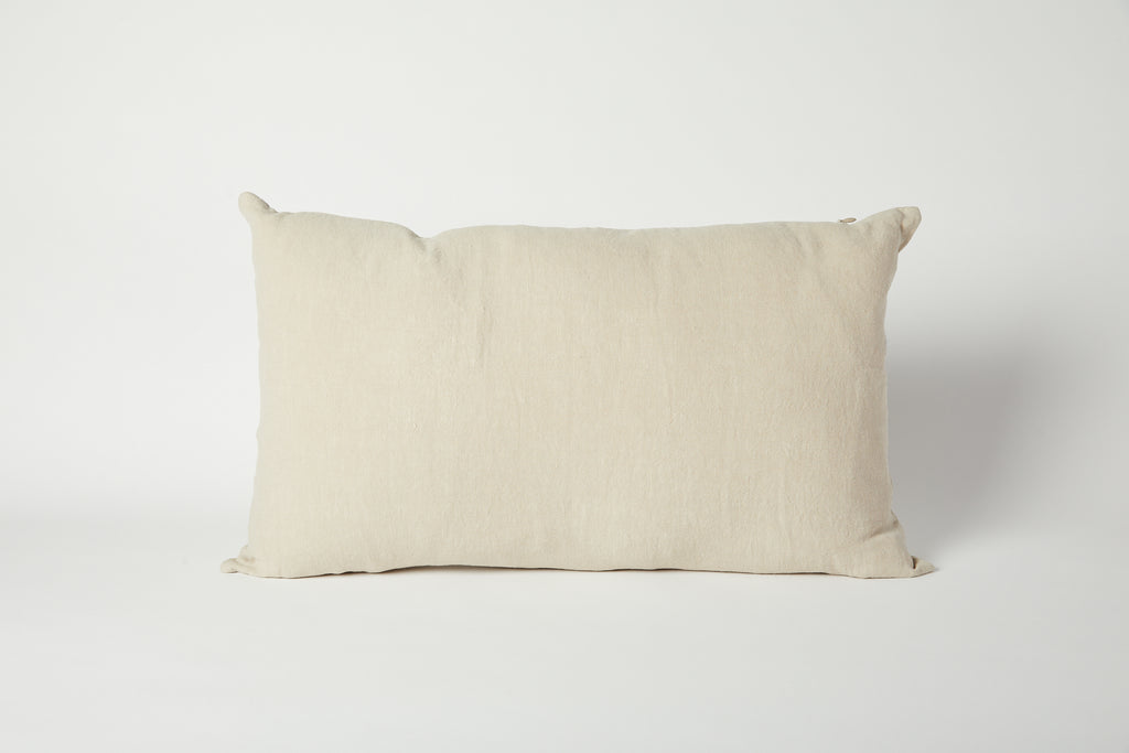 Simple Linen Pillow 22 x 12, Flax