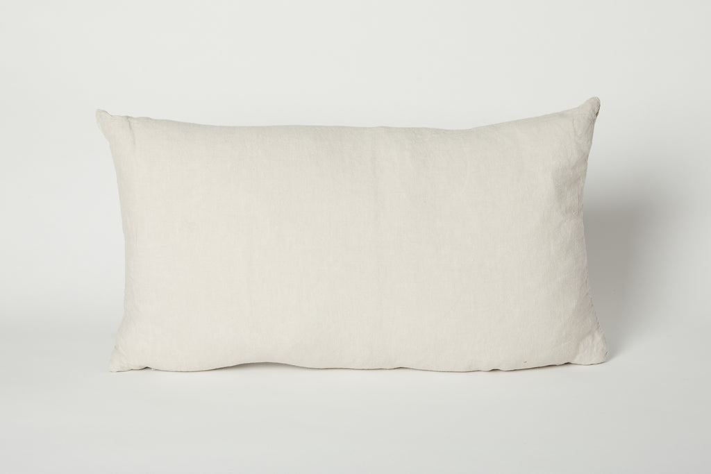 Simple Linen Pillow, Light Grey 22 x 12