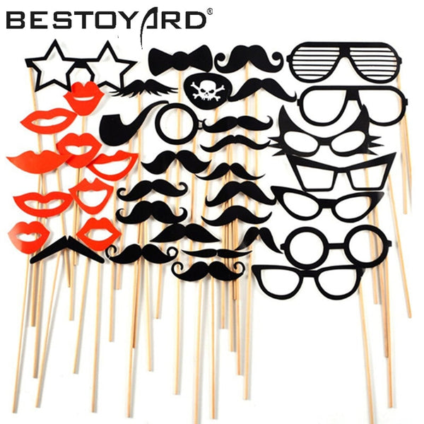 Photo Booth Props - Funny Glasses/ Mustaches / Lips