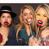 Funny Lip Mouth Photo Booth Props