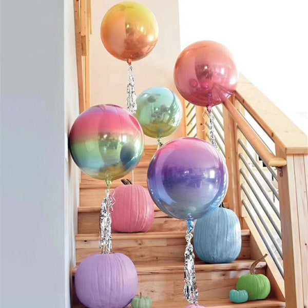 Gradient Color 4D Helium Balloons - 20 Balloons - Size: 22 Inches
