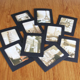 Photo Frame 4x6 - Cardboard Photo Frames with Wood Clips and Twine