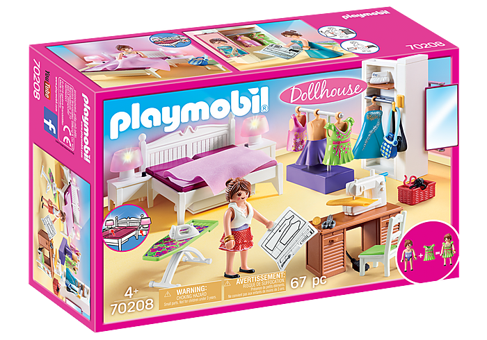 70208 Playmobil Bedroom with Sewing Corner