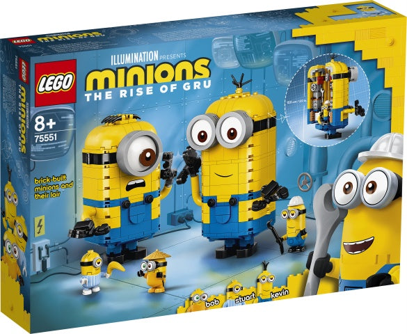 75551 LEGO Minions The Rise of Gru Brick-built Minions and their Lair