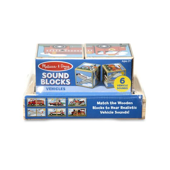 1272 Melissa & Doug Vehicles Sound Blocks