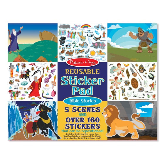 9124 Melissa & Doug Reusable Sticker Pad - Bible Stories