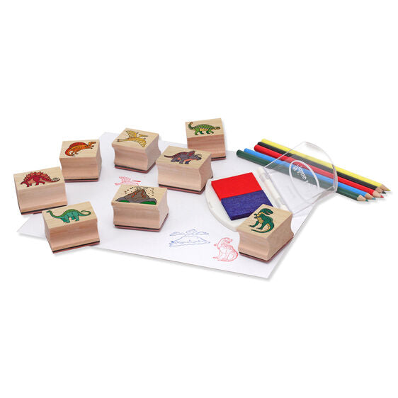 1633 Melissa & Doug Wooden Stamp Set Dinosaurs