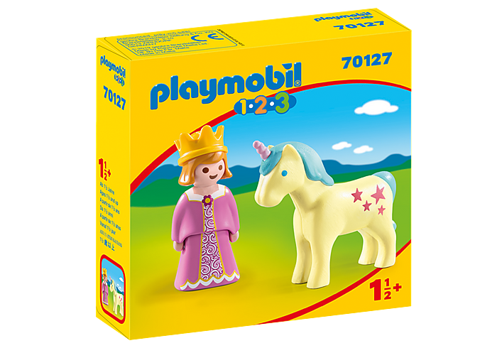 70127 Playmobil 1.2.3. Princess with Unicorn